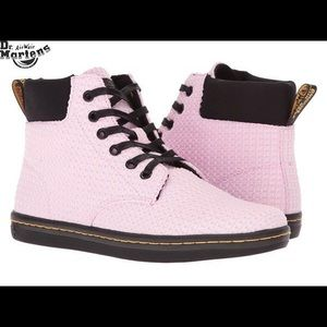 New Dr. Martens Maelly WC Boots In Pink For Womens